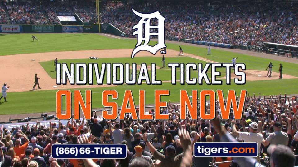 Tigers tickets on sale
