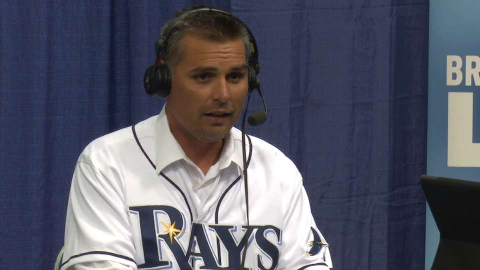 Kevin Cash at Rays Fan Fest