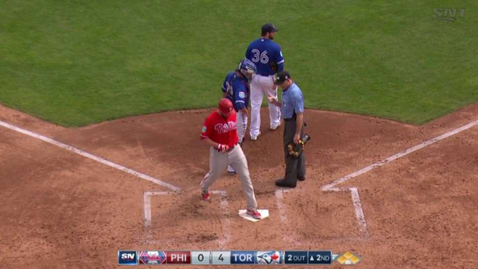 Moore's RBI hit-by-pitch