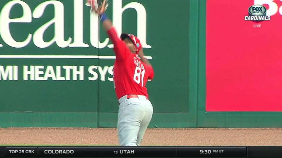 A. Garcia's leaping catch
