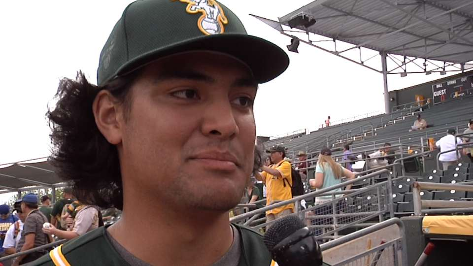 Manaea on Spring Training, Young