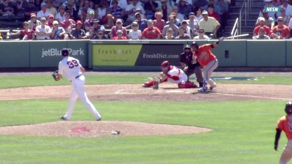 Smith's first spring strikeout