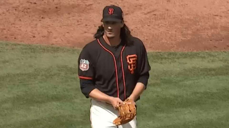 Samardzija fans five Dodgers