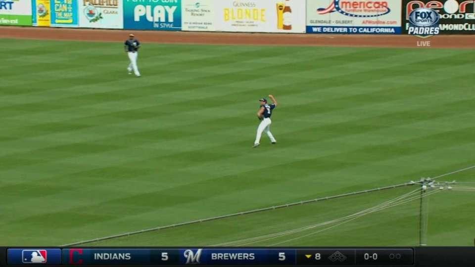 Renfroe makes catch, turns DP