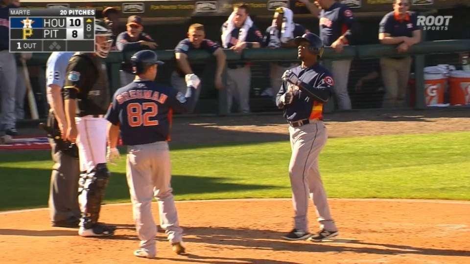 Astros' five home runs