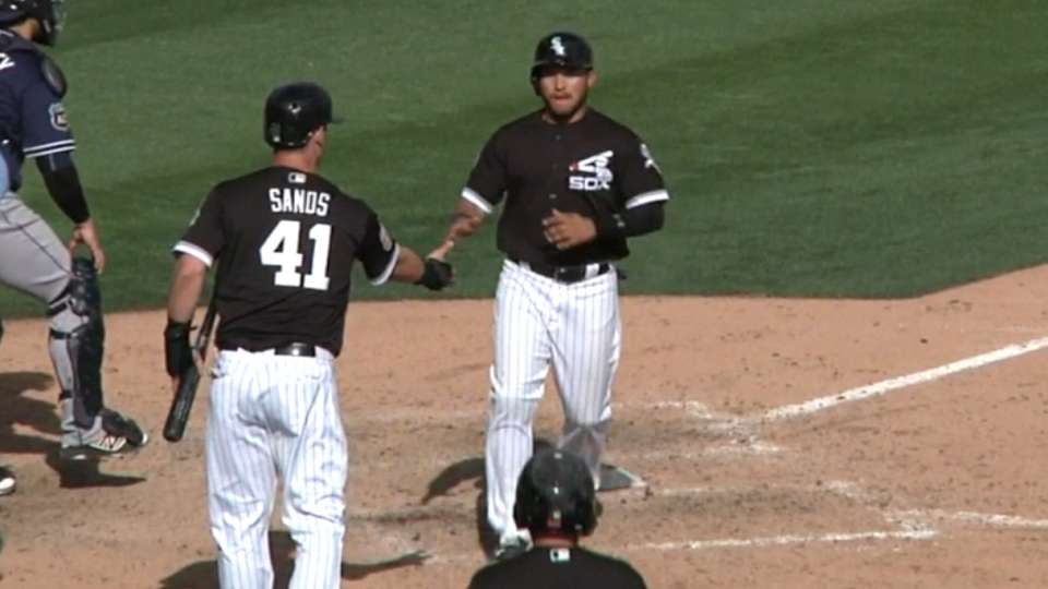 Smith drives in two with double