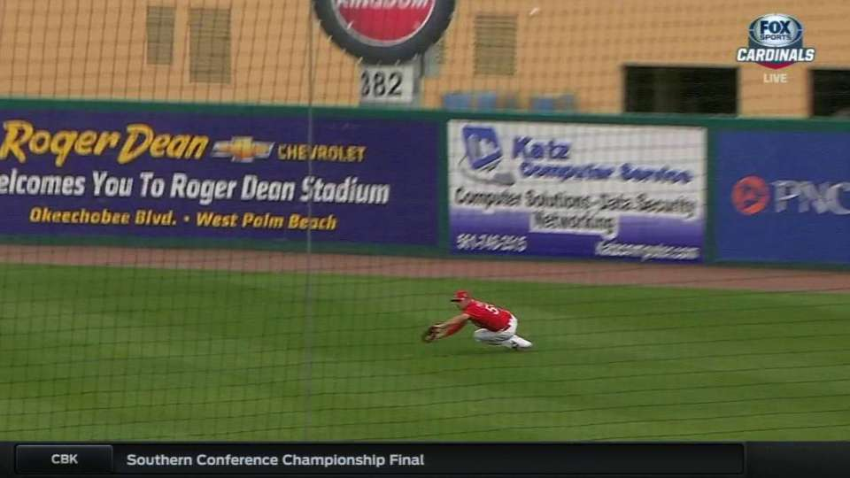 Piscotty's diving catch