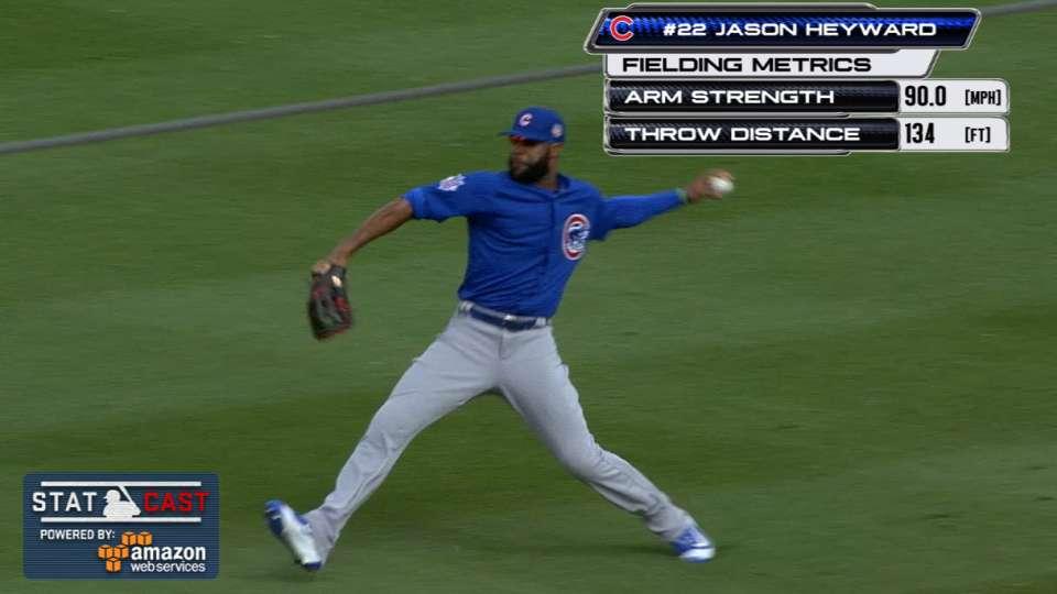 Statcast: Heyward shows off arm