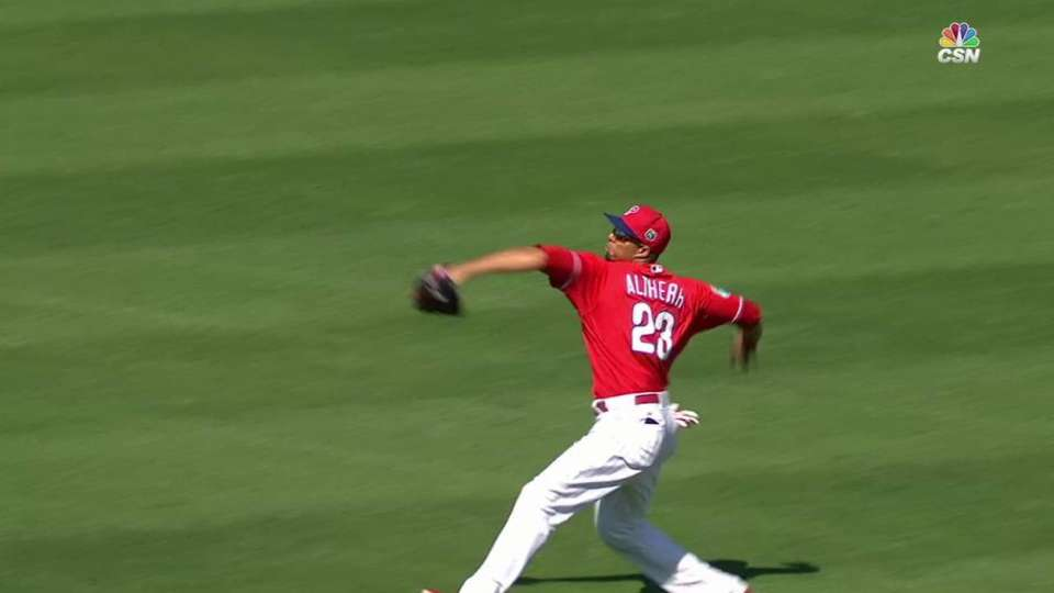 Altherr throws out Urena at home