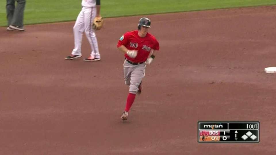 Holt's solo home run