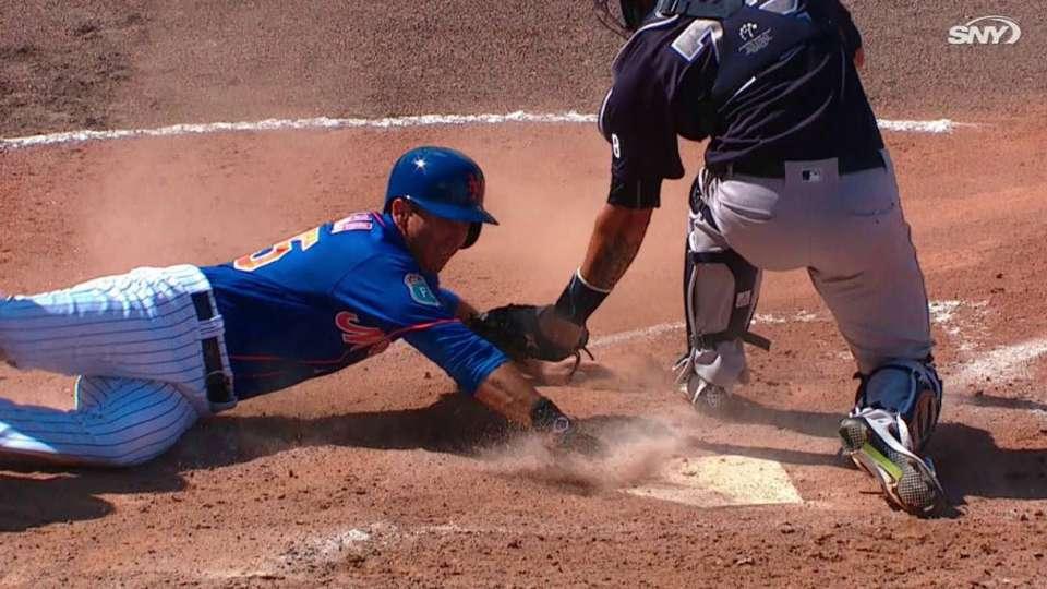 Rivera crosses the dish on error