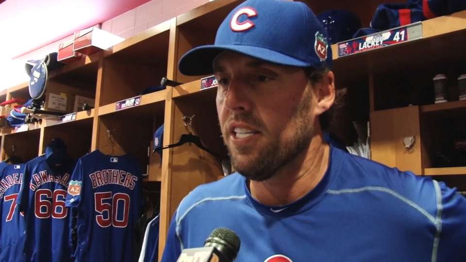 Lackey fitting in with Cubs