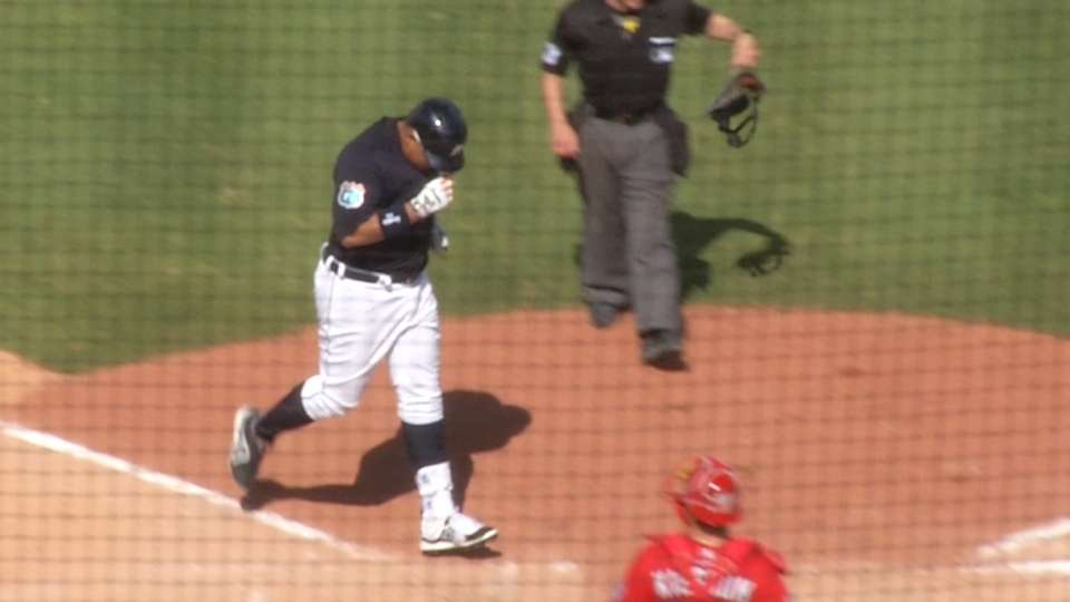 Miggy's long homer to left