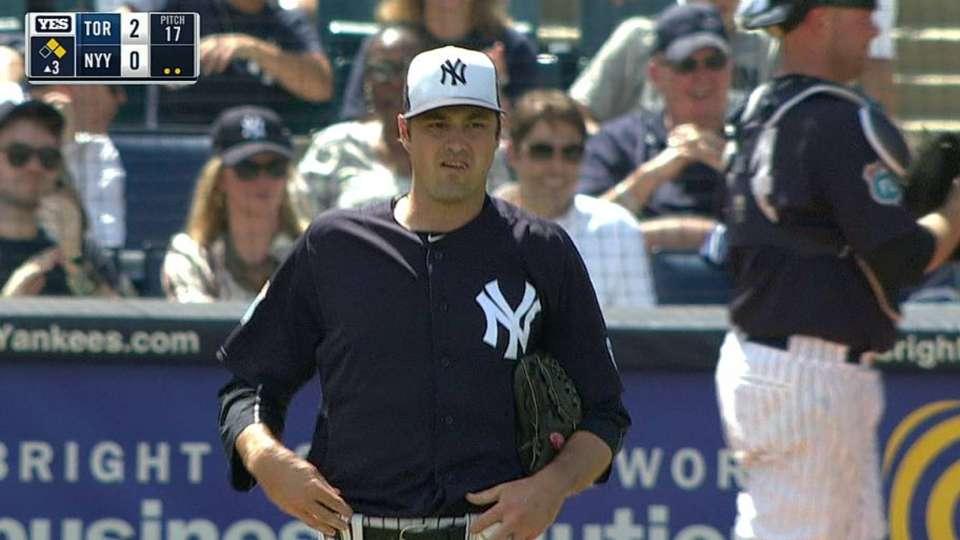 Miller strikes out Bautista