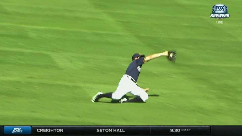 Presley's sliding catch