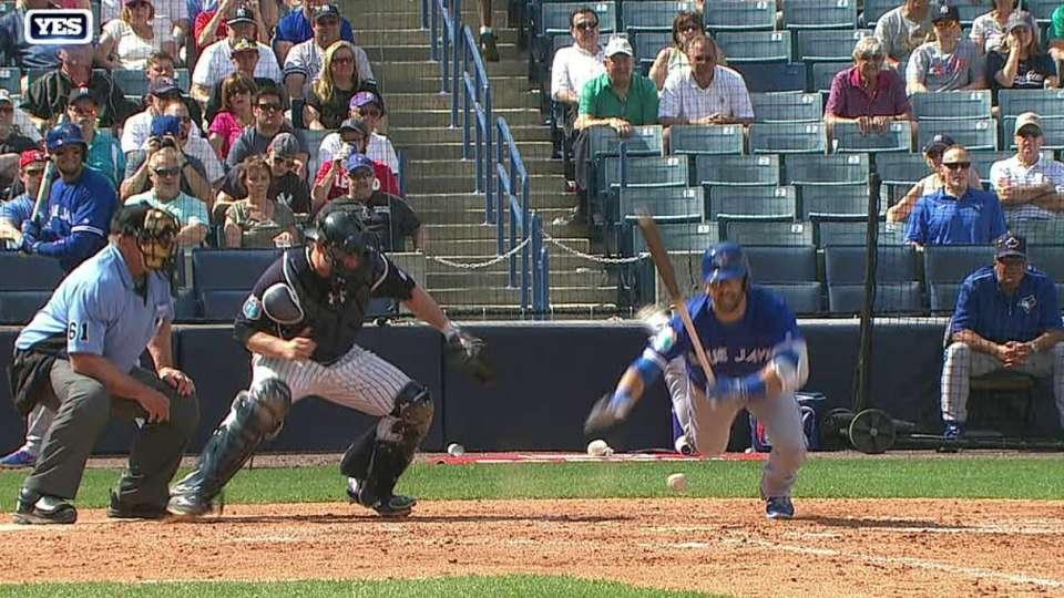 Chapman hits Bautista