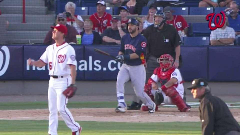 Gonzalez hits a two-run shot