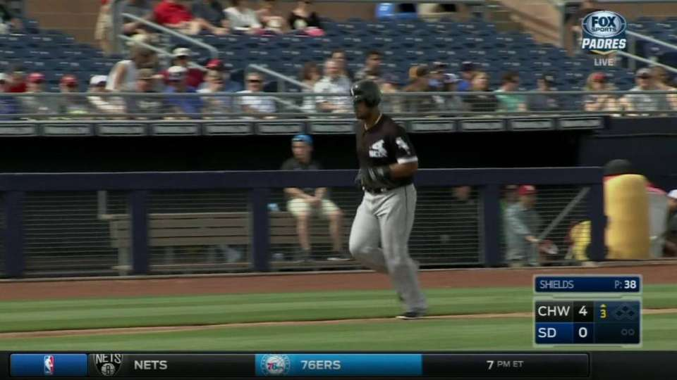 Abreu crushes homer to left