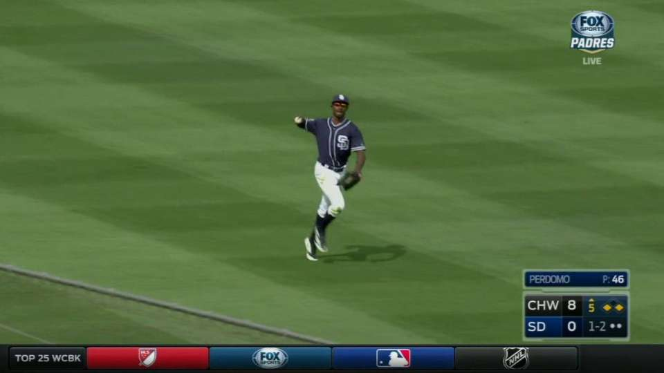Upton makes diving catch
