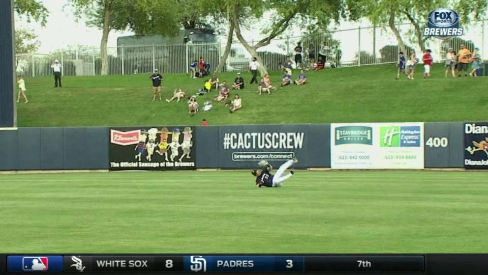 Reed's tumbling catch