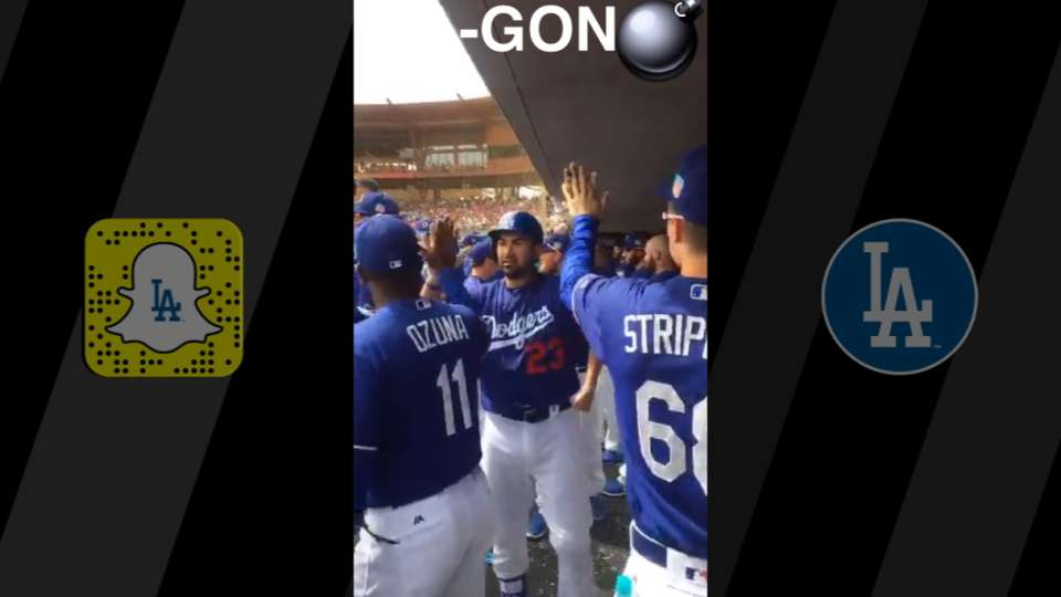 Dodgers take Snapchat Day