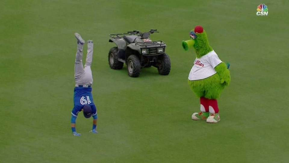 Phanatic, Bautista work it out