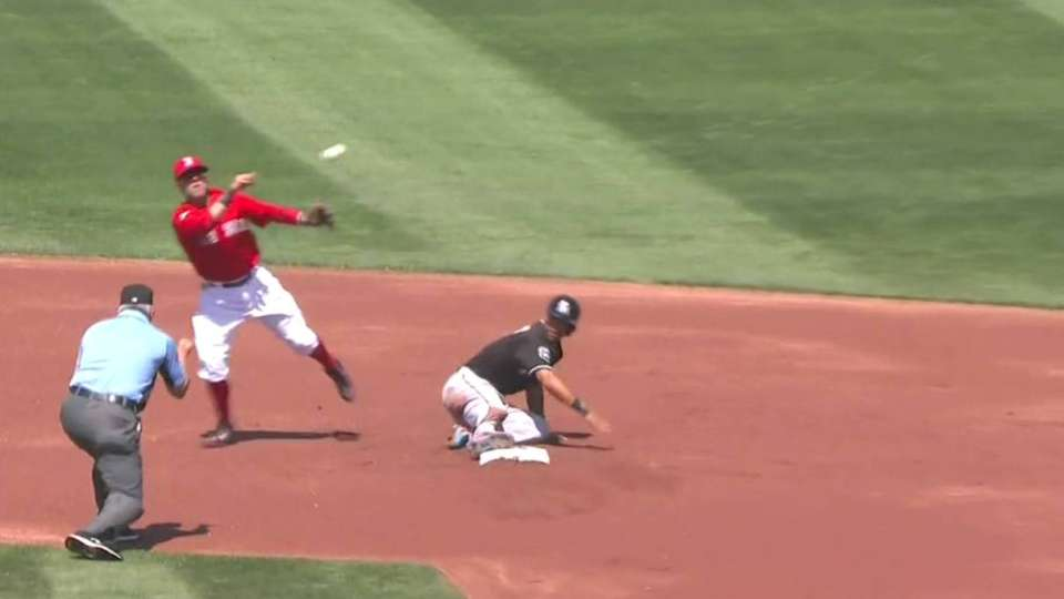Sandoval starts double play