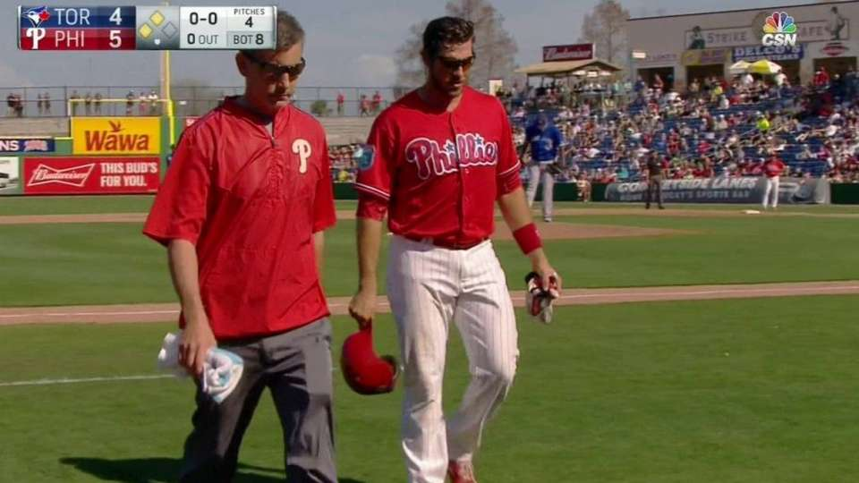 Arencibia exits the game