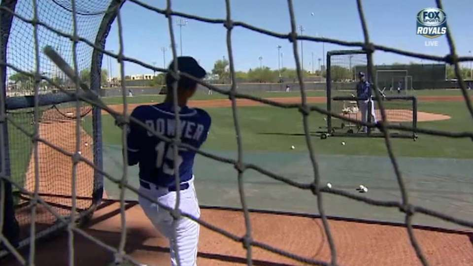 Clint Bowyer visits the Royals