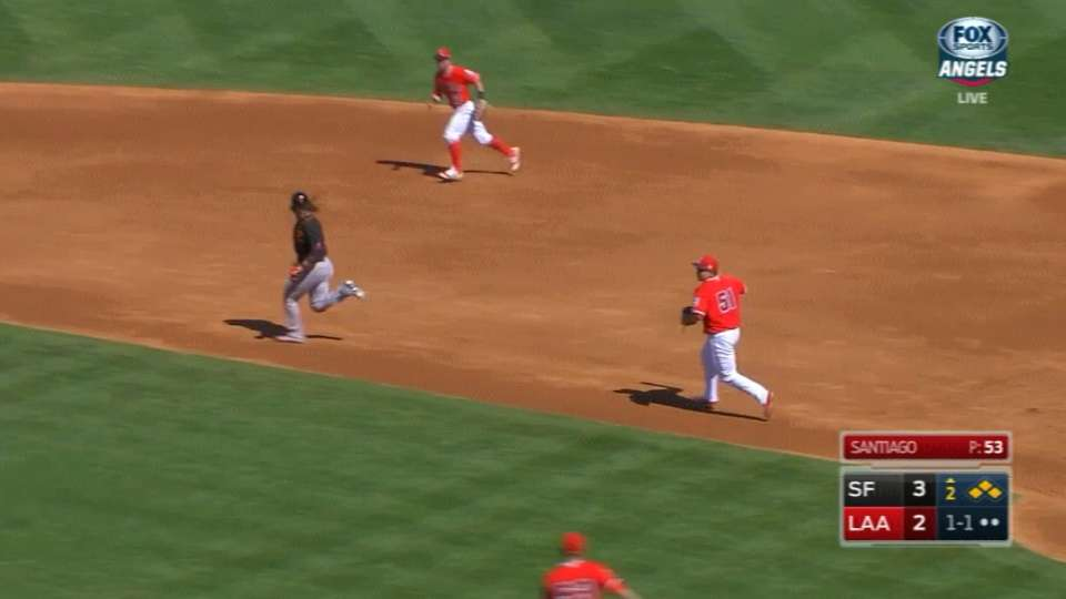 Exciting Angels rundown play