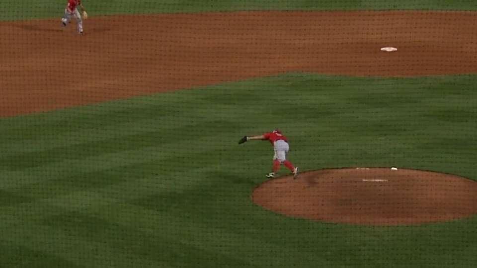 Roark's defense ends inning