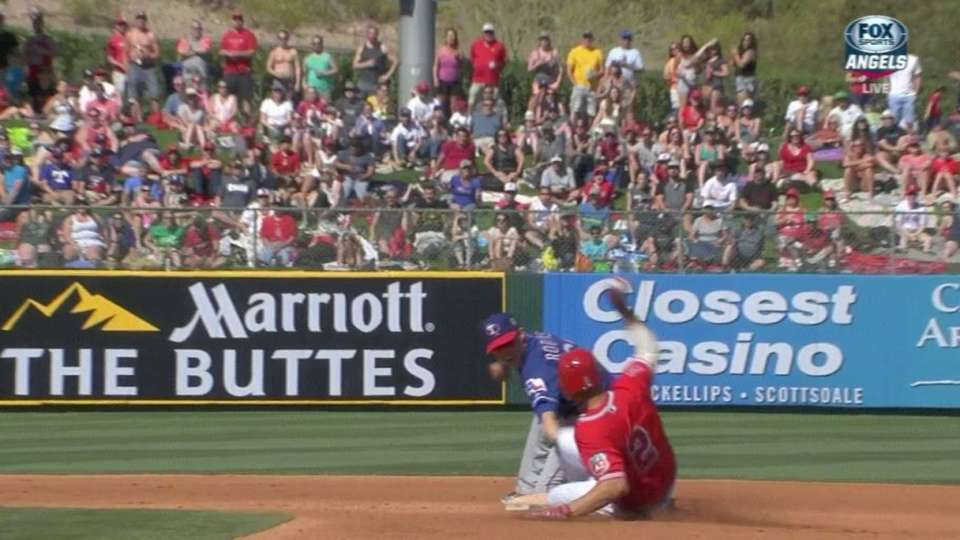 Stubbs' outfield assist