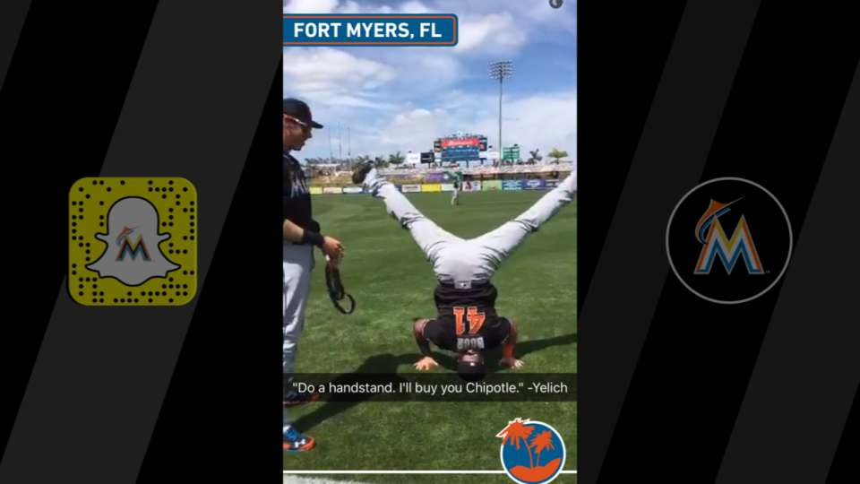 Marlins have fun with Snapchat