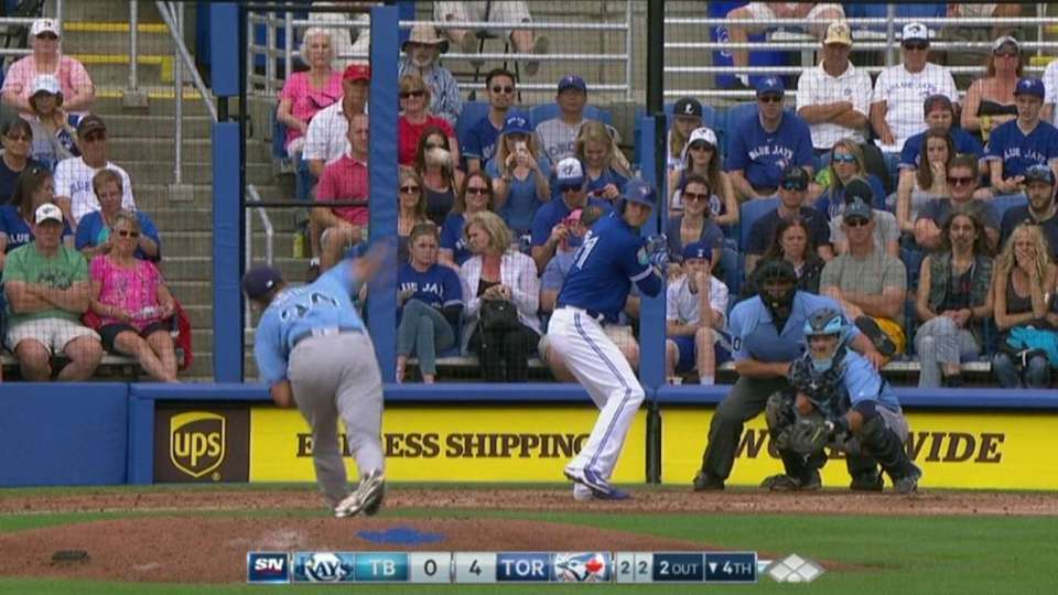 Faria strikes out the side