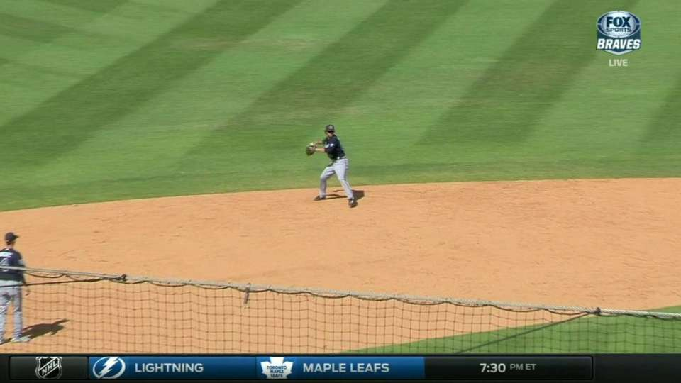 Swanson's nice pick, throw