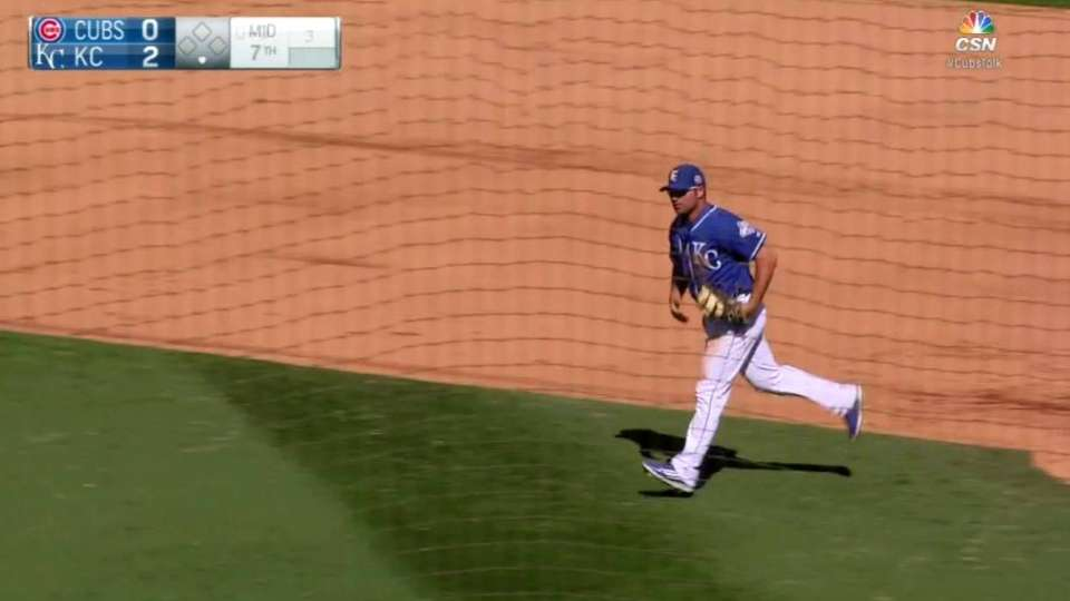 Royals' turn two with bases full
