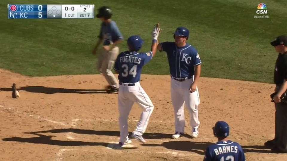 Fuentes' three-run homer