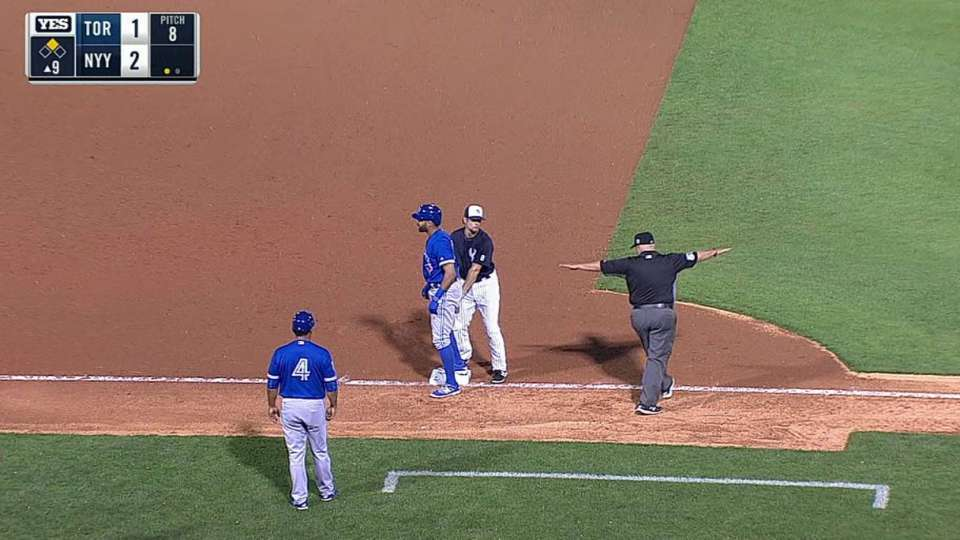 Pompey's 9th inning triple
