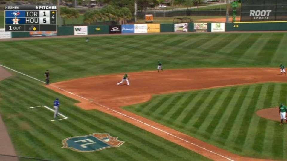Duffy starts inning-ending DP