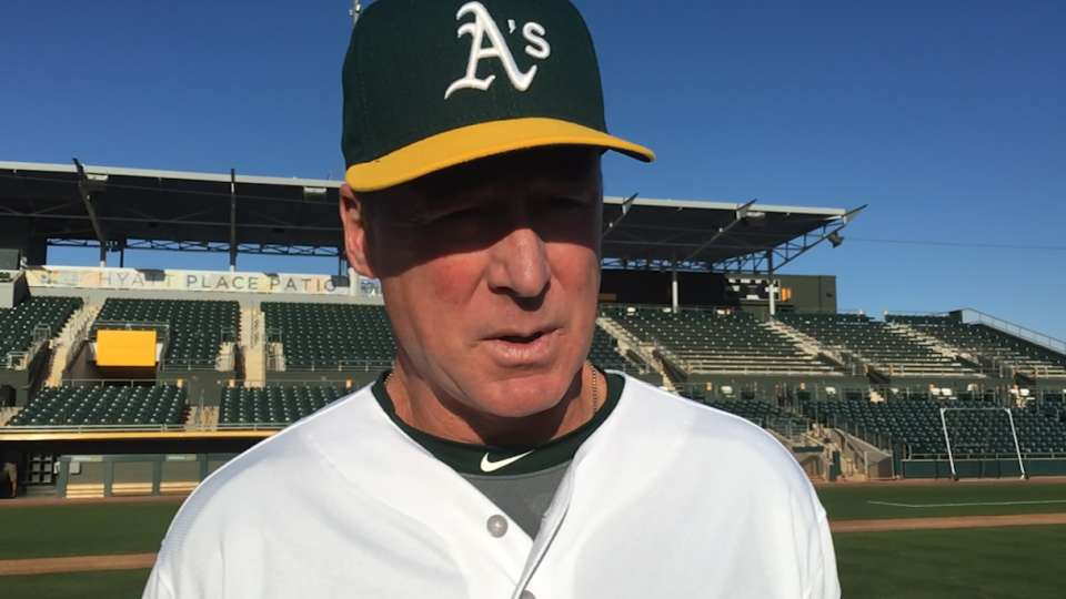 Melvin on A's progress in camp