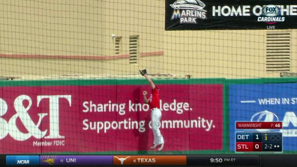 Holliday's catch robs homer