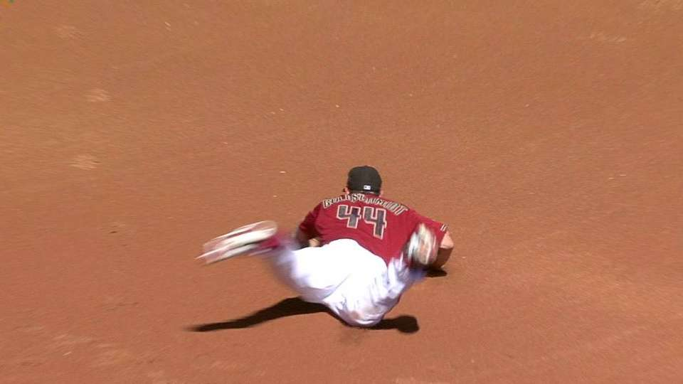 Goldschmidt's nice play at first