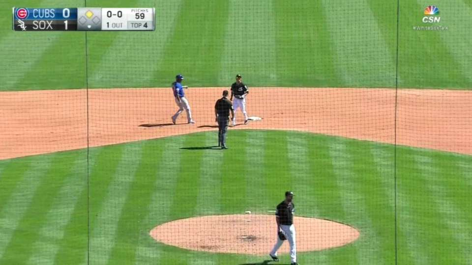 Frazier starts a double play