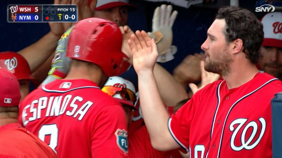 Nationals score five in the 1st