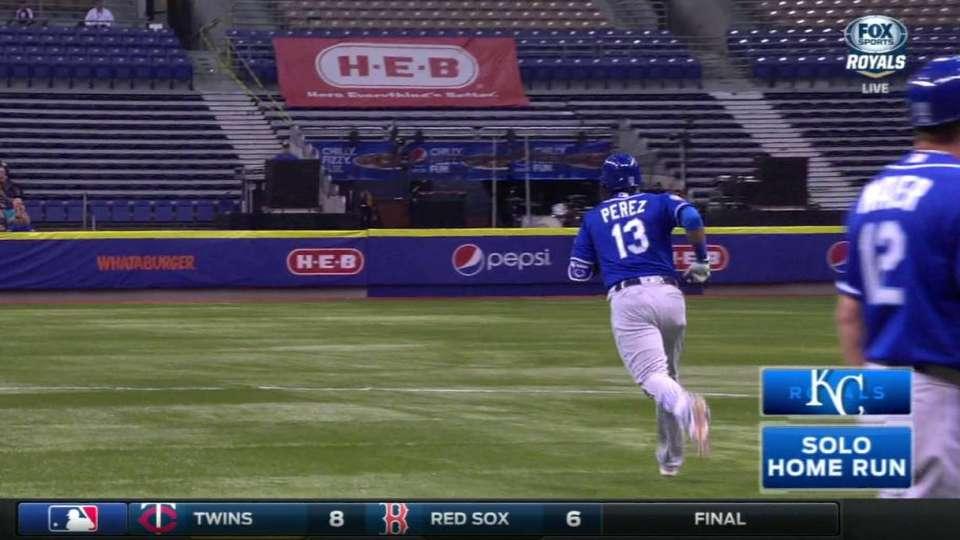 Perez's home run to right-center