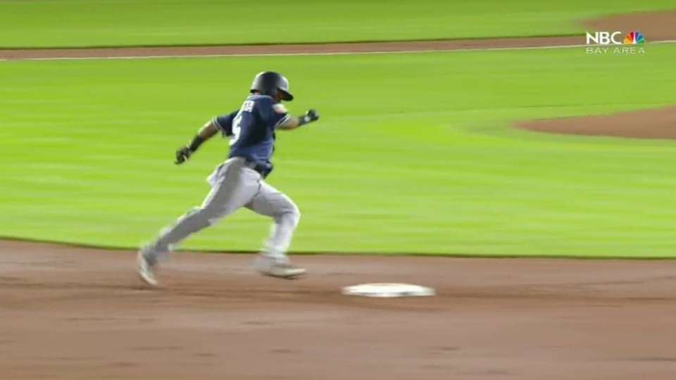 Amarista's one-out triple