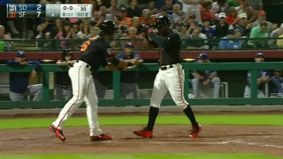 Span's two-run homer