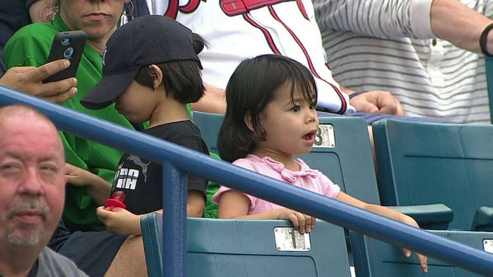 Young Yankees fans enjoy game