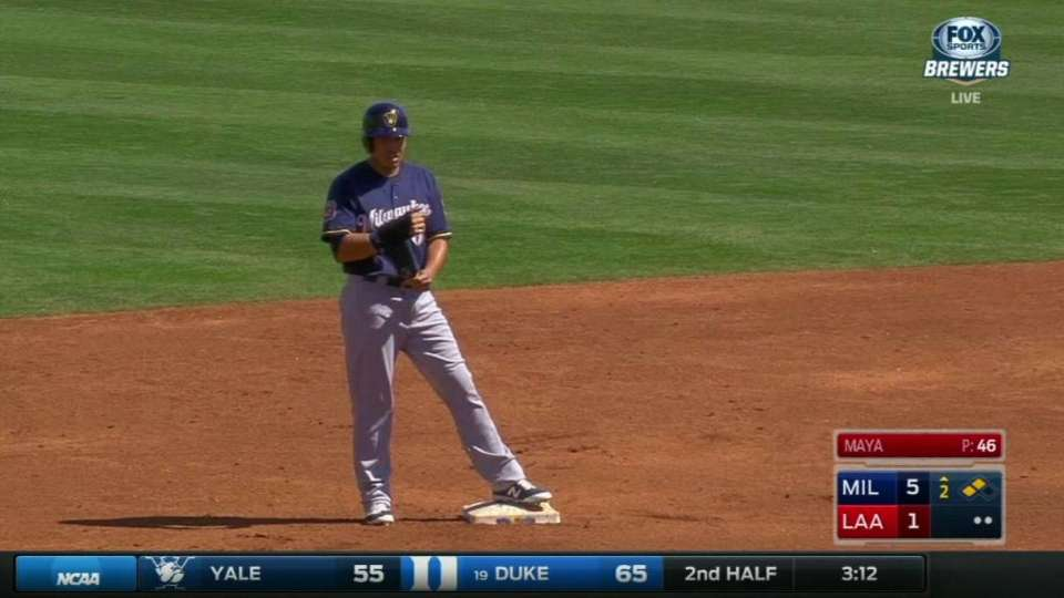 Flores's two-run double
