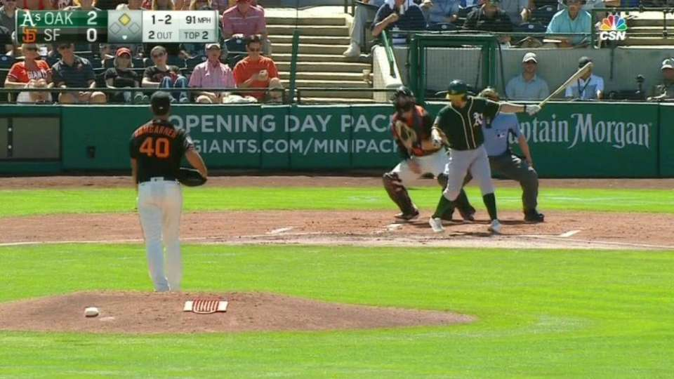 Bumgarner strikes out Burns